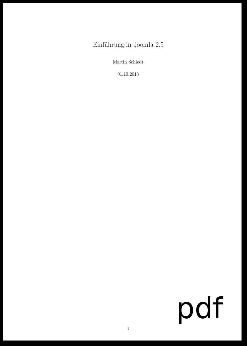 Joomla 2.5 Pdf Einfugen